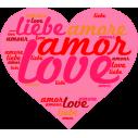 Η αγάπη σε όλες τις γλώσσες Αυτοκόλλητο τοίχου
