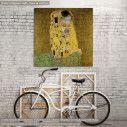 Πίνακας ζωγραφικής The kiss, Klimt Gustav, αντίγραφο σε καμβά
