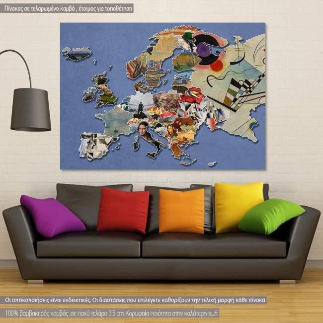 Πίνακας σε καμβά Europe of painter's