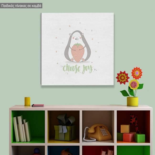Πίνακας παιδικός σε καμβά Cute animals, Σκαντζοχοιράκι