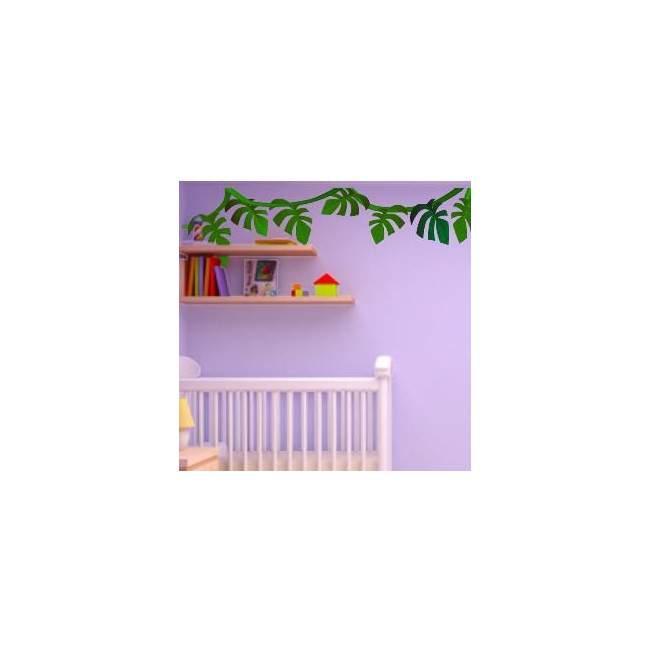 Αυτοκόλλητα τοίχου παιδικά Φυτά της Ζούγκλας, μπορντούρα
