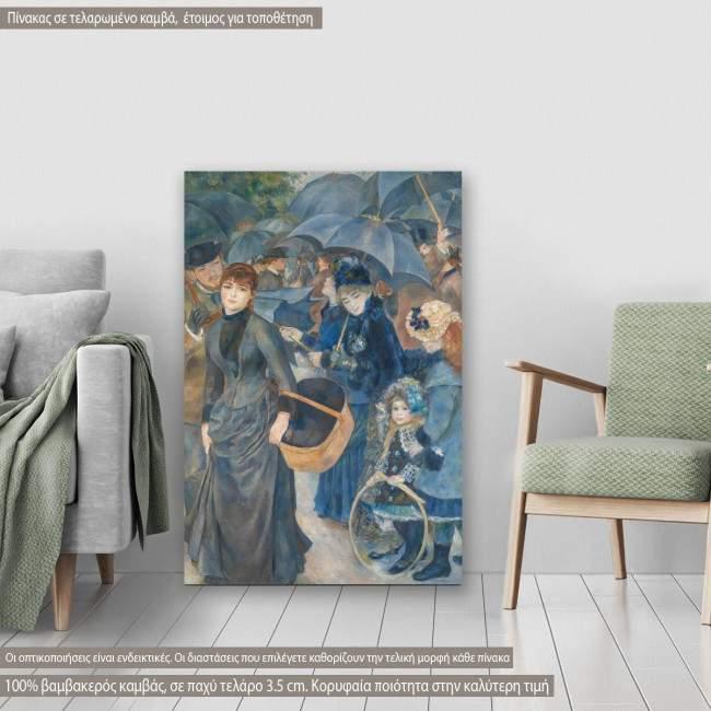 Canvas print The umbrellas, Renoir