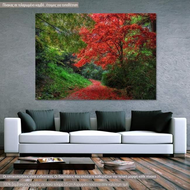 Κόκκινο μονοπάτι  πίνακας σε καμβά