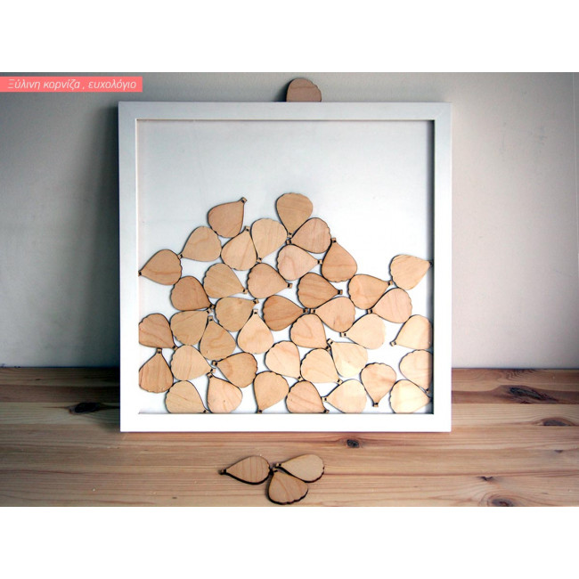 Wooden frame wishes board hot air balloons
