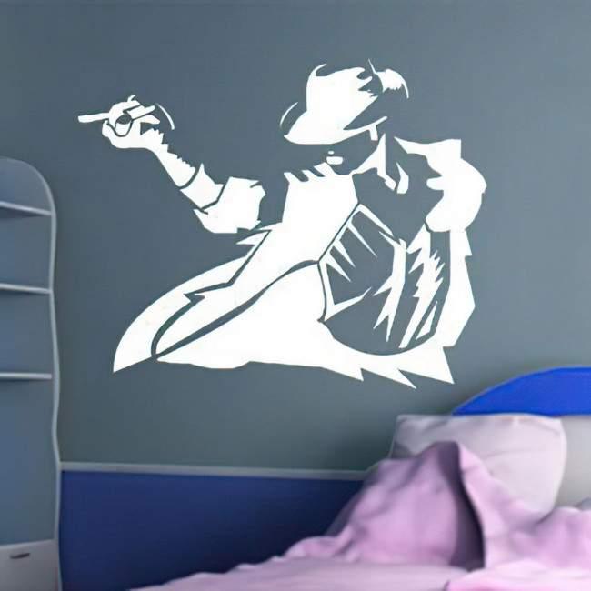Αυτοκόλλητο τοίχου Michael Jackson figure 6