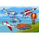 Funny planes and aircraft, φωτογραφική ταπετσαρία
