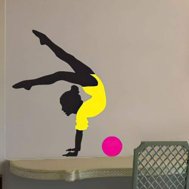 Αυτοκόλλητο τοίχου Ρυθμική γυμναστική, μπάλα