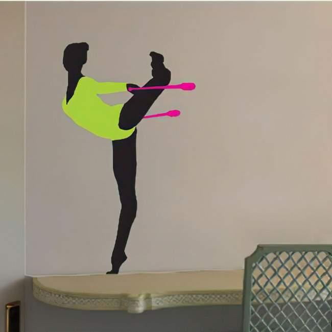 Αυτοκόλλητο τοίχου Ρυθμική γυμναστική, κορίνες