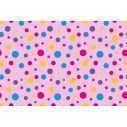 Polka dot (roz), ταπετσαρία τοίχου με μοτίβo