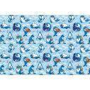 Μικρές φώκιες (μπλε), ταπετσαρία τοίχου με μοτίβo