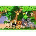 Jungle animals, φωτογραφική ταπετσαρία