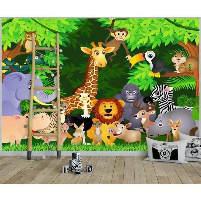 Ταπετσαρία τοίχου Jungle animals