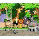 Wall  mural Jungle animals