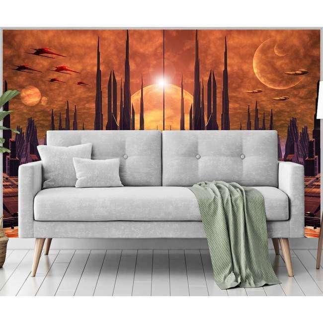 Wallpaper Futuristic city