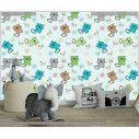 Ταπετσαρία τοίχου Hand drawn cats (boy), μοτίβο