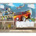 Ταπετσαρία τοίχου Speeding car