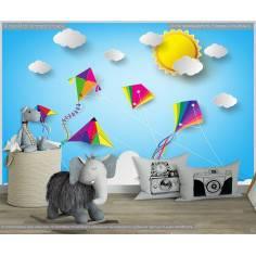 Ταπετσαρία τοίχου Kites in the sky