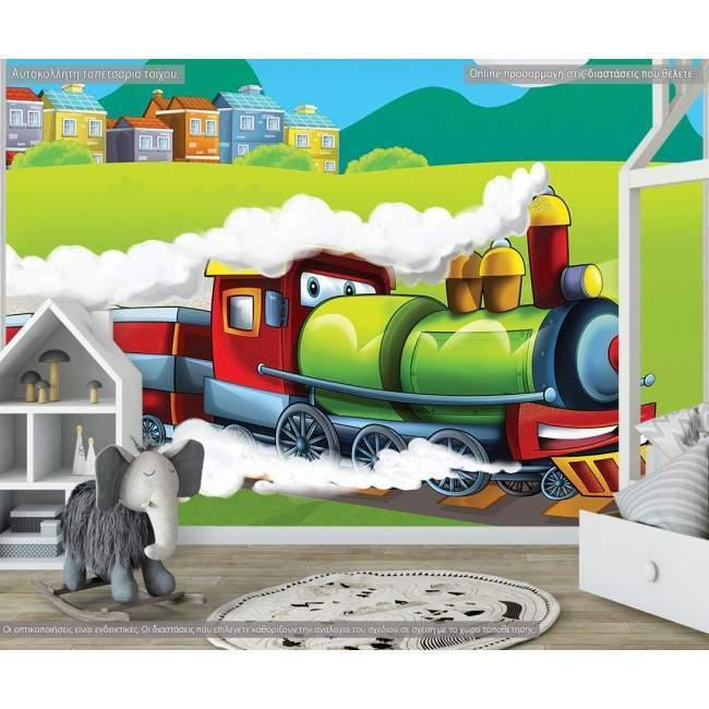 Ταπετσαρία τοίχου Steaming train