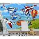 Ταπετσαρία τοίχου Funny planes and aircraft