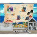 Wallpaper Map at the sea bottom