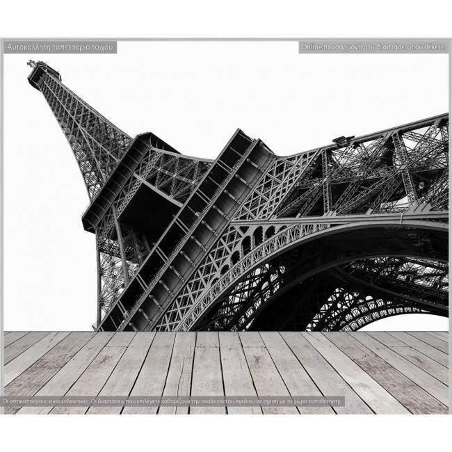 Wallpaper Eiffel tower grayscale