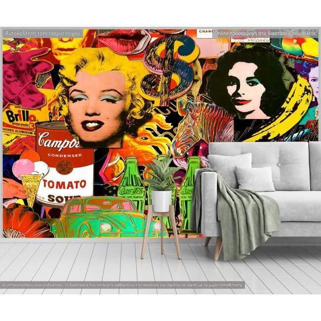Ταπετσαρία τοίχου Pop art wallpaper