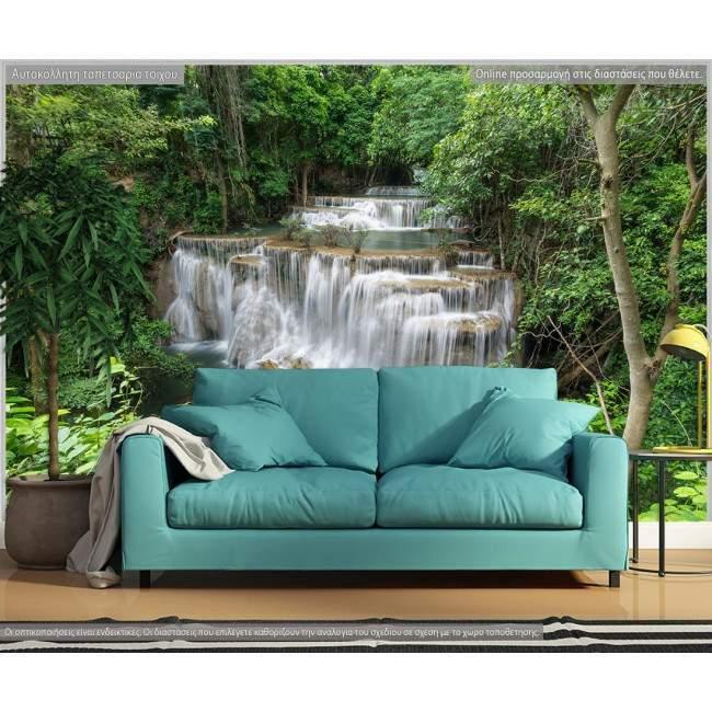 Ταπετσαρία τοίχου Waterfall in rainforest