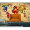 Wallpaper World map watercolors
