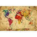 World map watercolors, φωτογραφική ταπετσαρία