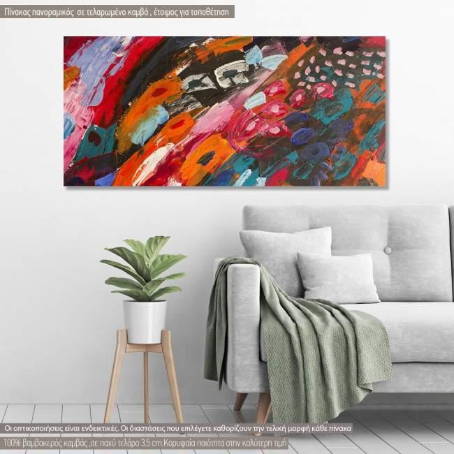 Canvas print Abstract selection XCIII, panoramic