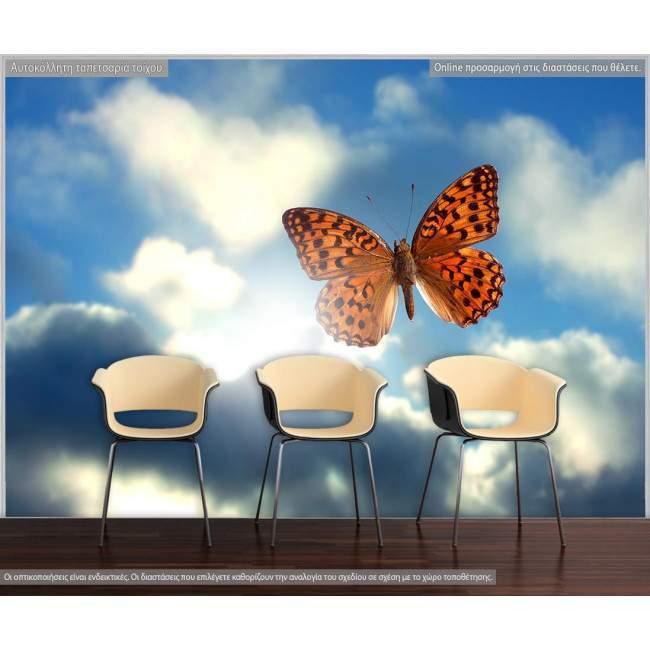 Ταπετσαρία τοίχου Πεταλούδα στον ουρανό