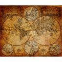 Παγκόσμιος χάρτης vintage II, φωτογραφική ταπετσαρία