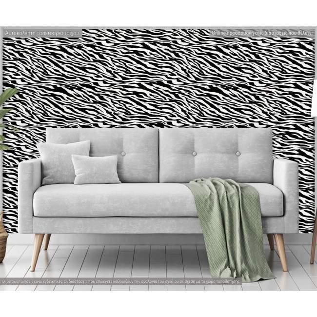 Ταπετσαρία τοίχου Μοτίβο ζέβρας