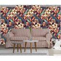 Ταπετσαρία τοίχου Tropical exotic flowers, μοτίβο