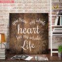 You have my whole heart, ξύλινη πινακίδα τετράγωνη