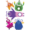 Kids wall stickers Mini collection, Little Monsters