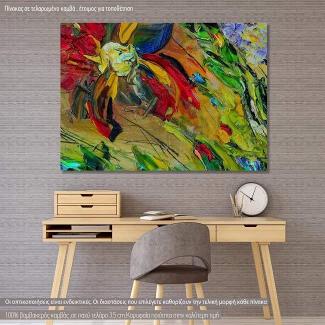 Πίνακας σε καμβά Abstract painting VII