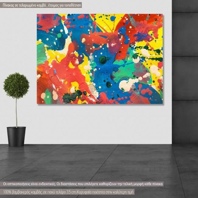 Πίνακας σε καμβά Abstract selection XXII