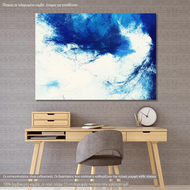 Canvas print Abstract futuristic blue and white
