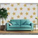 Ταπετσαρία τοίχου Χρυσαφένια αστέρια, μοτίβο