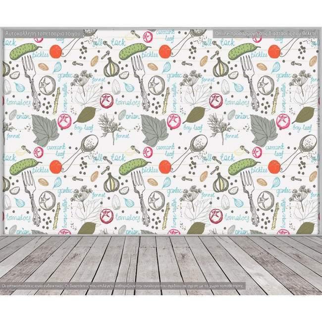 Ταπετσαρία τοίχου Για την κουζίνα, μοτίβο