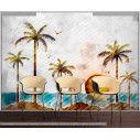 Ταπετσαρία τοίχου Tropical landscape