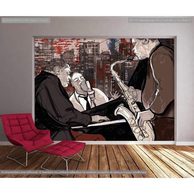 Ταπετσαρία τοίχου Jazz band