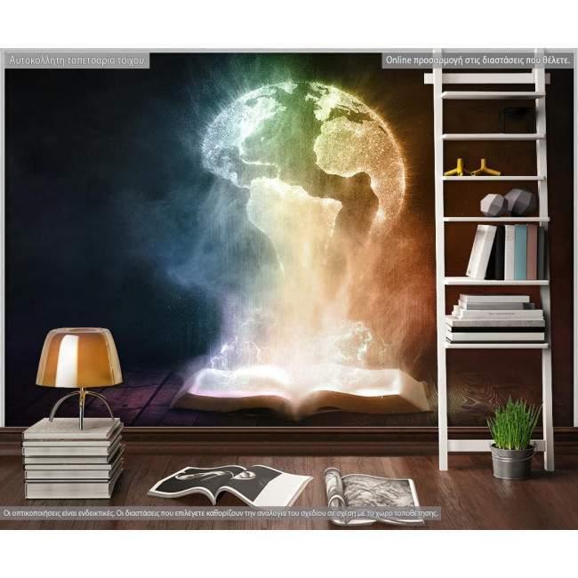 Ταπετσαρία τοίχου Book and globe