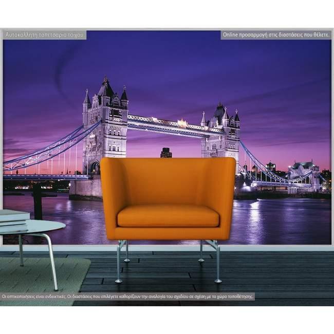 Ταπετσαρία τοίχου  London bridge in mauve