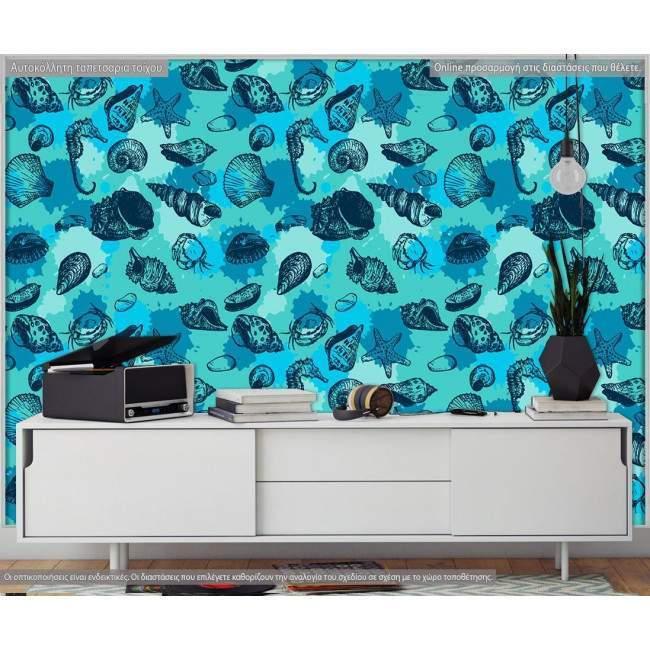 Wallpaper Seashells pattern