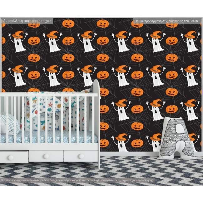 Ταπετσαρία τοίχου Halloween pattern, μοτίβο