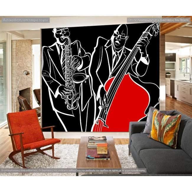 Ταπετσαρία τοίχου Jazz players