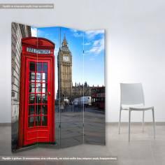 Παραβάν Αγγλικός τηλεφωνικός θάλαμος