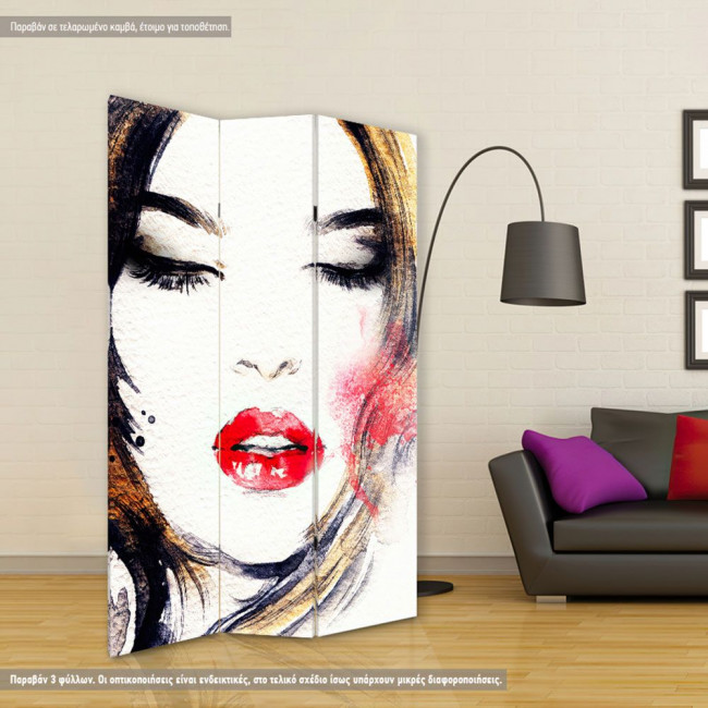 Room divider Abstract woman portrait